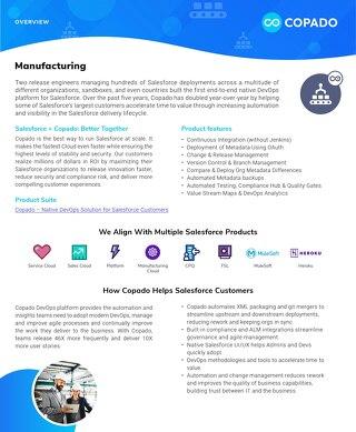 Copado for Manufacturing Datasheet