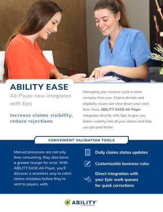 ABILITY EASE All-Payer now integrates with Epic