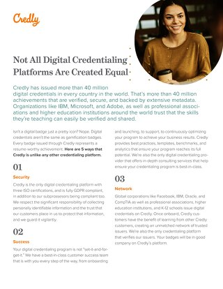 Not All Digital Credentialing Platforms Are Equal