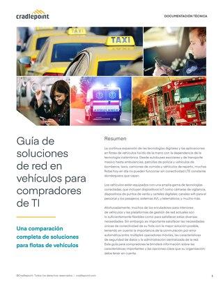 Guía de soluciones de red en vehículos para TI