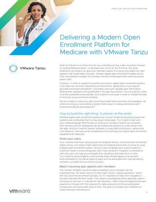Delivering a Modern Open Enrollment Platform for Medicare with VMware Tanzu