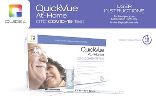 User instructions for the Quidel® QuickVue® At-Home COVID-19 Test