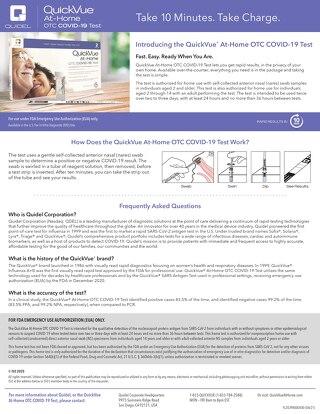 Quidel® QuickVue® At-Home OTC COVID-19 Test