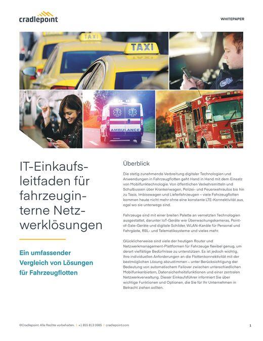 IT-Leitfaden für fahrzeuginterne Netzwerklösungen