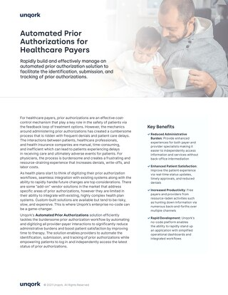 Automated Prior Authorizations for Healthcare Payers