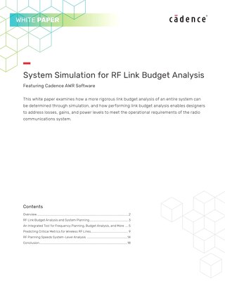 System Simulation for RF Link Budget Analysis
