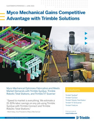 Myco Mechanical Gains Competitive Advantage with Trimble Solutions