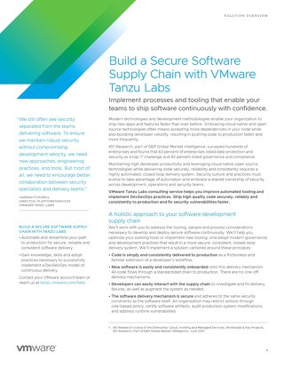 Build a Secure Software Supply Chain with VMware Tanzu Labs