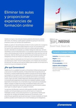 Caso de éxito Nestlé: Eliminar las aulas y proporcionar experiencias de formación online.