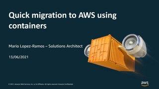 Migration rapide des applications web vers AWS à l'aide de conteneurs