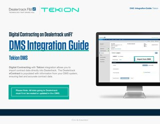 Digital Contracting DMS Integration Guide – Tekion