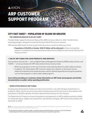 Axon_ARP_City Fact Sheet