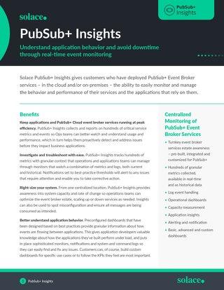 PubSub+ Insights Datasheet