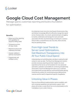 Google Cloud Cost Management