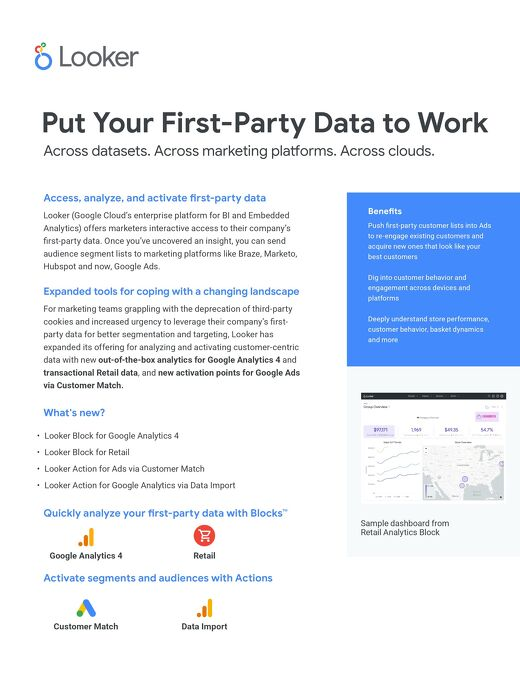 Put Your First-Party Data to Work