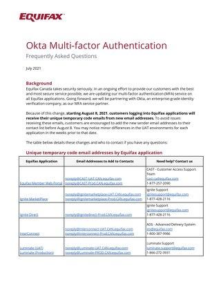 Okta Migration - Customer FAQs