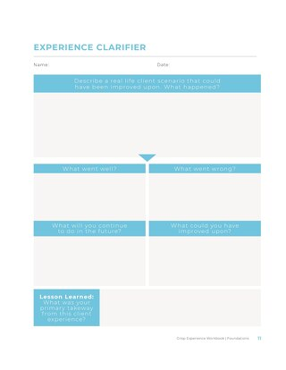 Experience Clarifier - Crisp Experience