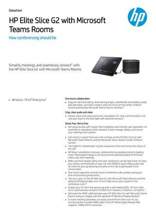HP Elite Slice G2 | Meetings Re-defined
