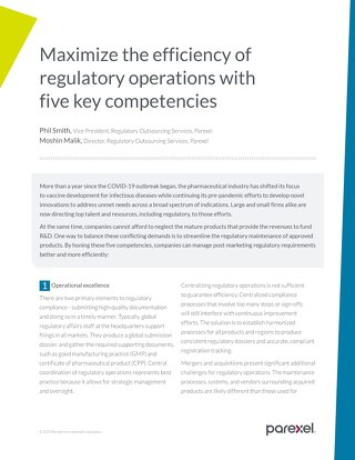 Maximize the efficiency of regulatory operations with five key competencies