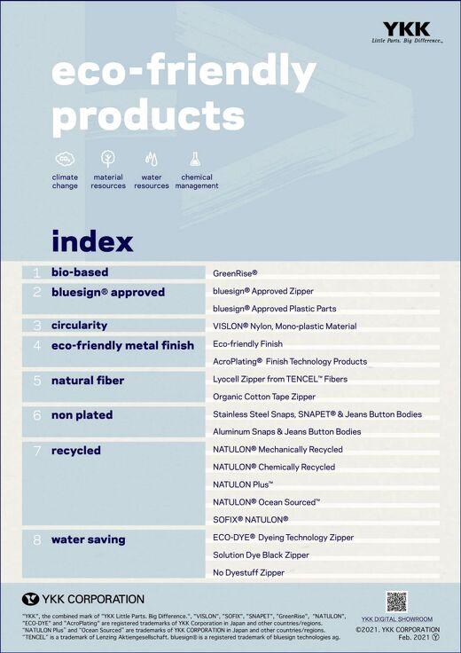 YKK Eco-friendly Products Leaflet