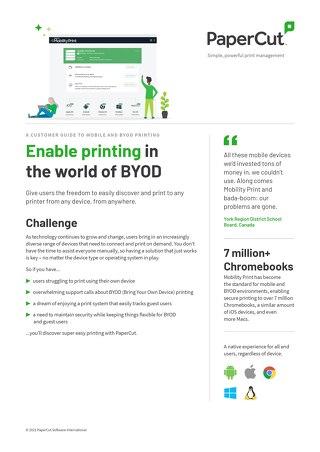 PaperCut Mobile & BYOD