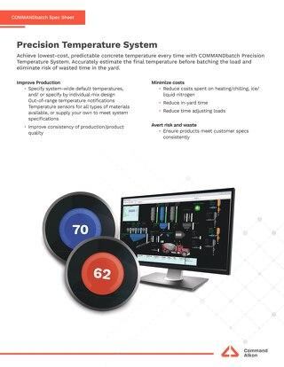 COMMANDbatch Precision Temperature System Spec