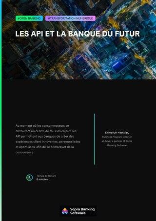 Les API et la banque du futur