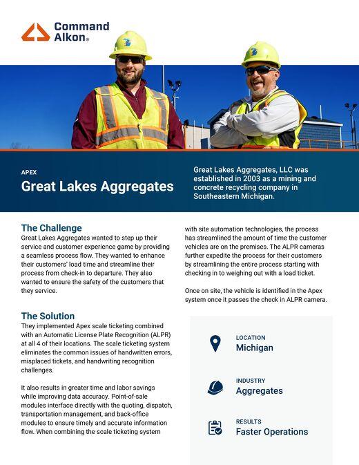 Great Lakes Aggregates Apex Case Study
