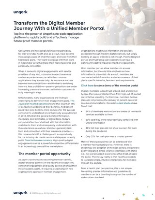 Transform the Digital Member Journey With a Unified Member Portal