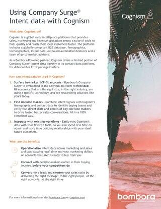 Cognism - Partner Information Sheet