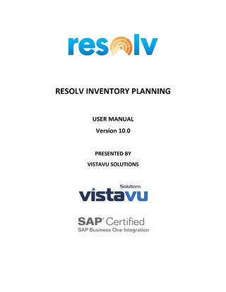 User Guide | Inventory Planning