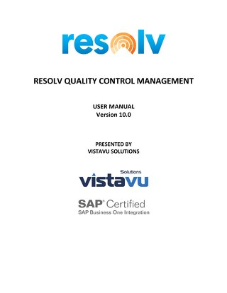 User Guide | Quality Control Management