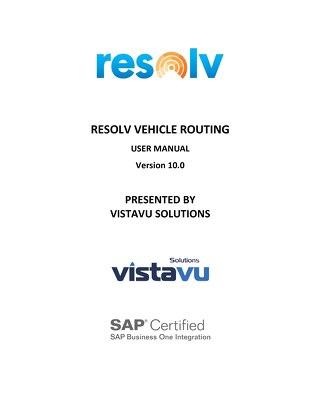 User Guide | Vehicle Routing