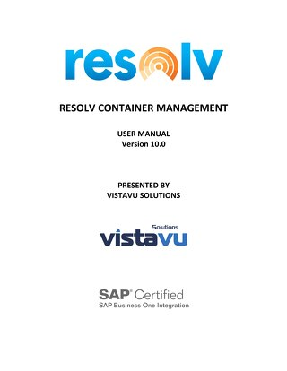 User Guide | Container Management