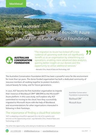 Customer Spotlight: Australian Conservation Foundation