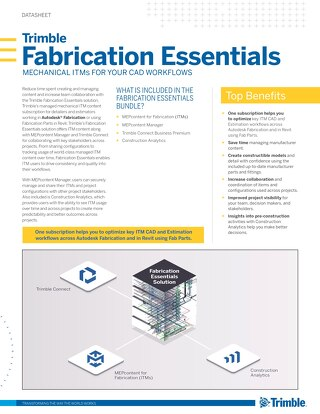 Trimble Fabrication Essentials Datasheet
