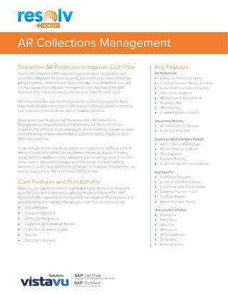 AR Collections Management | Resolv Module Overview