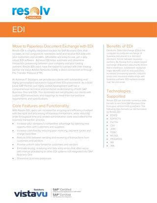 EDI | Resolv Module Overview