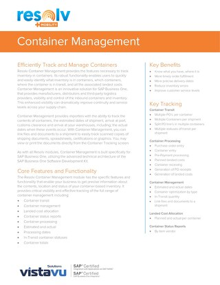 Container Management | Resolv Module Overview