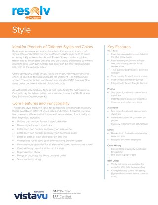 Style | Resolv Module Overview