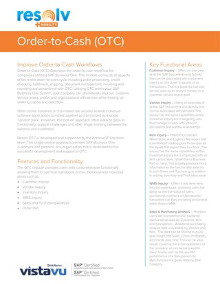 Order-to-Cash (OTC) | Resolv Module Overview