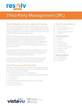 Third-Party Management (3PL) | Resolv Module Overview