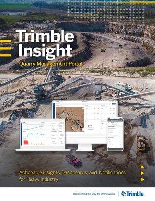 Trimble Insight Quarry Management Portal Brochure - English