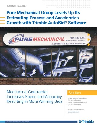 Pure Mechanical Group Accelerates Growth with Trimble AutoBid