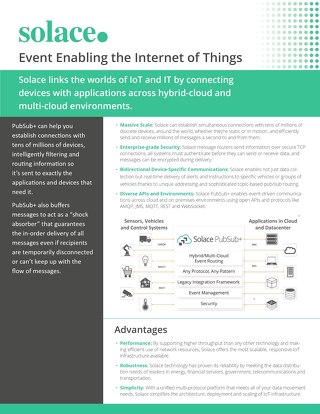 Event-Enable the Internet of Things with PubSub+ | Datasheet