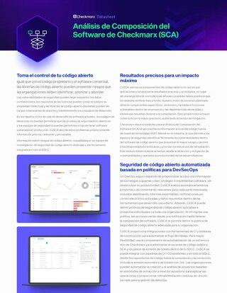 CxSCA Spanish - Datasheet - July 2021