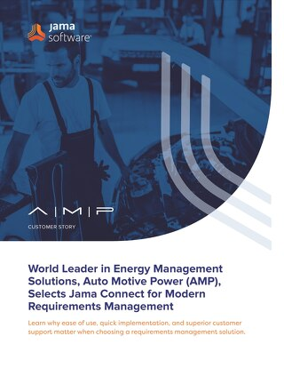 Auto Motive Power (AMP) Selects Jama Connect for Modern RM