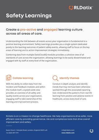 RLDatix Safety Learnings Brochure