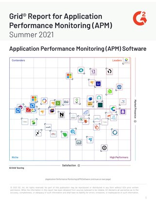 G2 Grid Report for Application Performance Monitoring (APM) Summer 2021