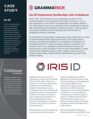 Iris ID GrammaTech Case Study